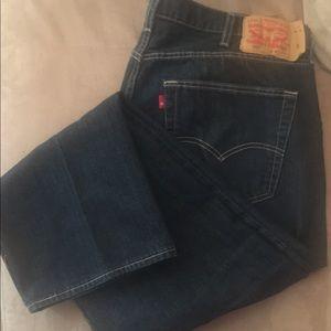 Levi's 501 Button Fly Jeans dark indigo.